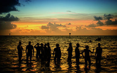 Photograph - Swimmers Sunrise by Joe Shrader