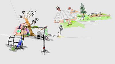 Digital Art - Swimming 3d by Debbi Saccomanno Chan