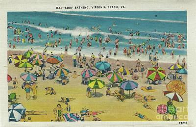 Digital Art - Swimming At Virginia Beach by Melissa Messick
