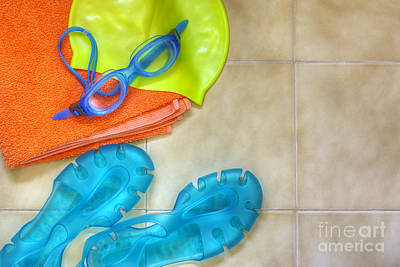 Sandals Photograph - Swimming Gear by Carlos Caetano