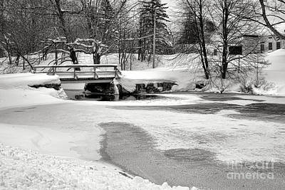 Swimming Hole At Bristol Dam In Winter Art Print