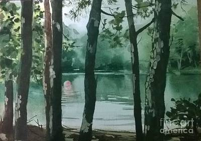 Painting - Swimming Hole by Elizabeth Carr