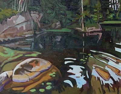 Swimming Hole Art Print by Phil Chadwick
