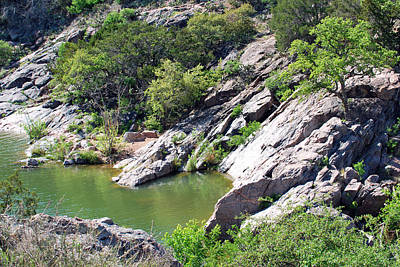 Art Print featuring the photograph Swimming Hole by Teresa Blanton