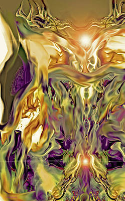 Digital Art - Swimming Horses by Linda Sannuti