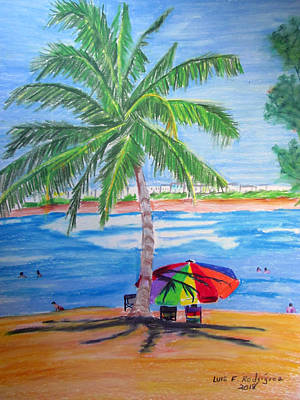 Painting - Swimming In Jobo Beach by Luis F Rodriguez