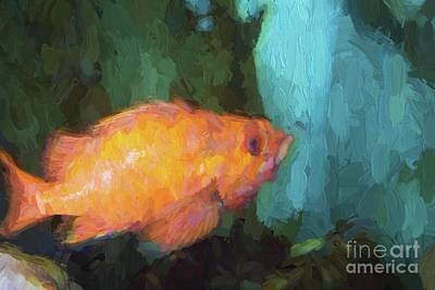 Painting - Swimming In Paint by Steven Parker