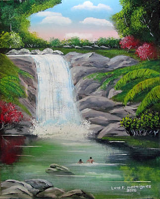 Painting - Swimming In Paradise by Luis F Rodriguez