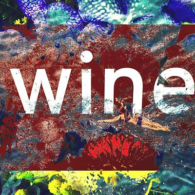 Digital Art - Swimming In Wine by Steve Swindells