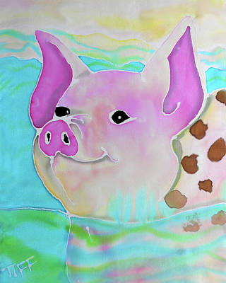 Painting - Swimming Piggy by Tiffany Barrett