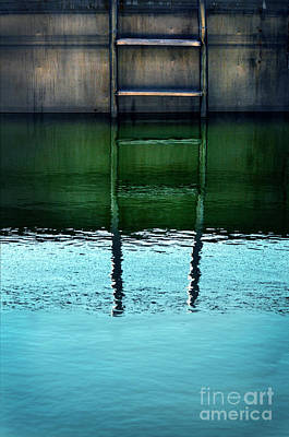 Photograph - Swimming Pool Ladder by Jill Battaglia