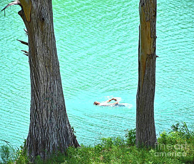 Photograph - Swimming The Blanco River  by Ray Shrewsberry