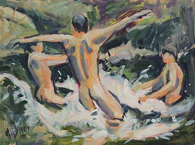 Painting - Swimming With Friends by Nop Briex