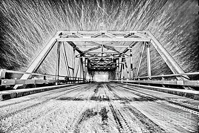Swing Bridge Blizzard Art Print