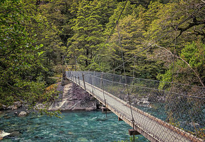 Marian Photograph - Swing Bridge New Zealand by Joan Carroll