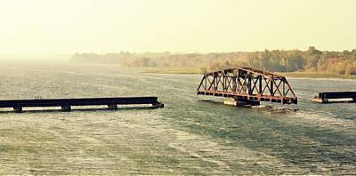Photograph - Swing Bridge by Tatiana Travelways