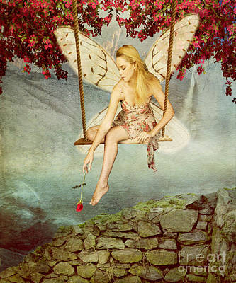 Swing Fairy Art Print