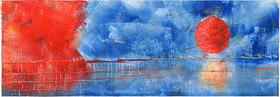 Aleut Digital Art - Swing From The Night Sky II by Lois Chichinoff Thadei