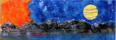 Aleut Digital Art - Swing From The Night Sky IIi by Lois Chichinoff Thadei