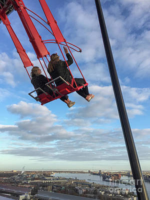 Photograph - Swing High Above With A View Of Amsterdam by Patricia Hofmeester