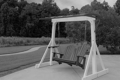 Photograph - Swing In Black And White by Carolyn Ricks