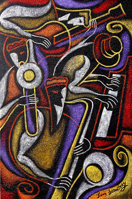 Jazz Royalty-Free and Rights-Managed Images - Swing Jazz  by Leon Zernitsky