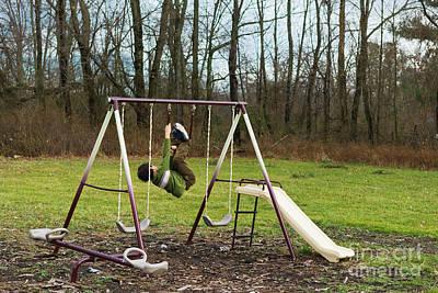 Americas Playground Photograph - Swing by Juan Silva