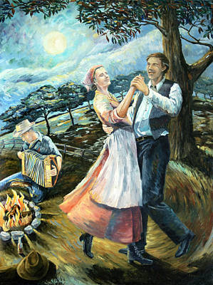 Painting - Swing Lady Home by Paula Blasius McHugh