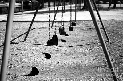 Photograph - Swing Shadows by John Rizzuto