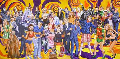 Painting - Swingin' Sixties Television by Bryan Bustard