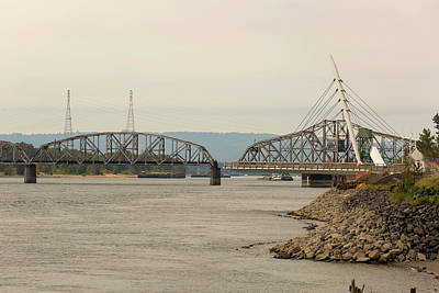 Photograph - Swing Steel Bridge At Port Of Vancouver Washington by Jit Lim