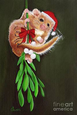 Painting - Swingin' On The Mistletoe by KJ Swan