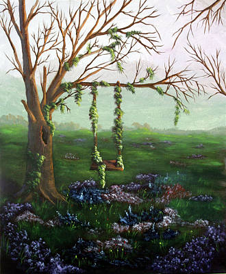 Painting - Swingin' With The Flowers by Dawn Blair