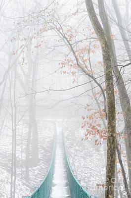 Photograph - Swinging Bridge In Fog by Tamara Becker
