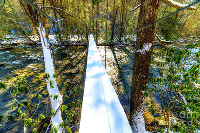 Swinging Bridge Art Print