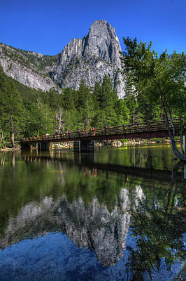 Photograph - Swinging Bridge by Walt Sterneman