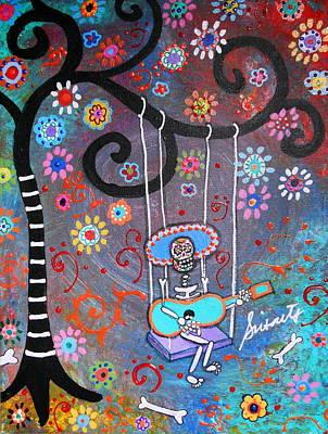 Swinging Mariachi Art Print by Pristine Cartera Turkus