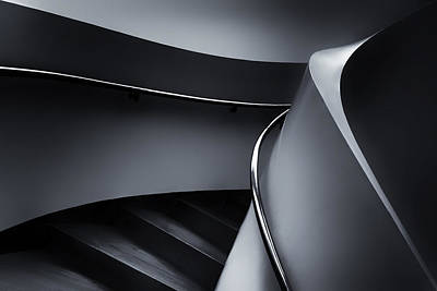 Stair Photograph - Swinging Up by Gerard Jonkman