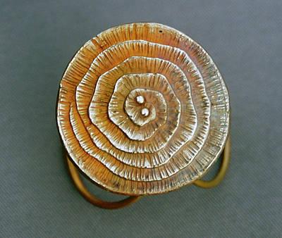 Swirl Bronze Ring Art Print by Mirinda Kossoff