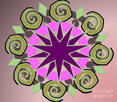 Painting - Swirl Kaleidoscope by Belinda Threeths