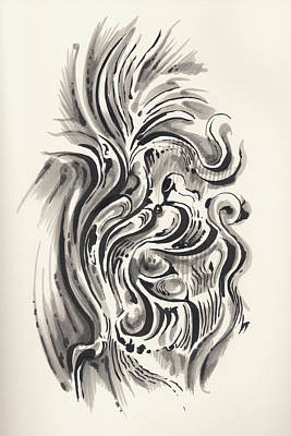Art Print featuring the drawing Swirl by Keith A Link
