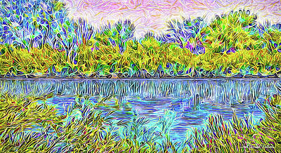 Digital Art - Swirl Pond Indigo - Lake In Boulder County Colorado by Joel Bruce Wallach