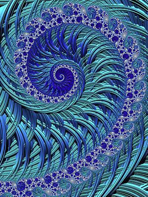 Digital Art - Swirl Pool by Susan Maxwell Schmidt