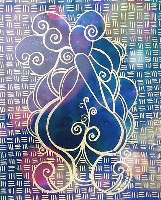 Acrylic Painting - Swirl Thick Girl #2 by Diamin Nicole