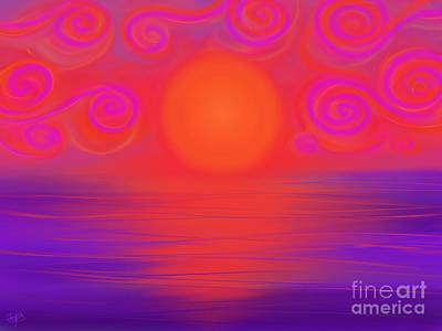 Painting - Swirled Sunset by Roxy Riou