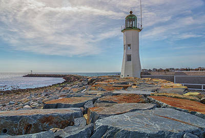 Photograph - Swirling Clouds At Scituate Lighthouse by Brian MacLean