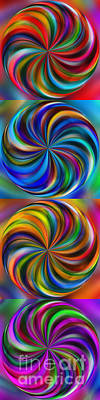 Digital Art - Swirling Colors Vertical Collage By Kaye Menner by Kaye Menner