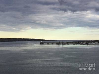 Swirling Currents On Casco Bay Art Print by Patricia E Sundik
