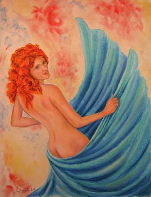 Pastel - Swirling Dancer by John Entrekin