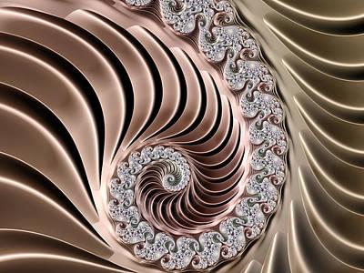 Swirling Lace Art Print